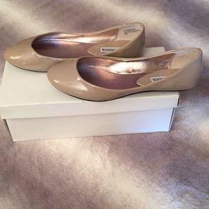 Taupe Patent Leather Steve Madden Flats